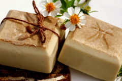 Natural hand made soap Royalty Free Stock Photos
