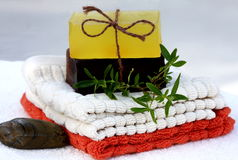 Natural hand made soap Royalty Free Stock Images