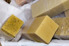 Natural hand made soap. Detail stock images