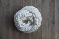 Natural Hand Spun Yarn Made from Sheep Wool Stock Image