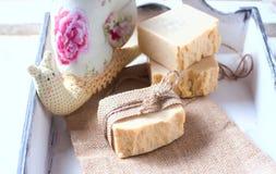 Natural handmade baby soap. Spa royalty free stock photography