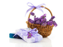 Free Natural Handmade Lavender Soap And Oil Royalty Free Stock Photo - 45046255