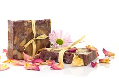Natural handmade soap. Stock Photo