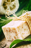 Natural handmade soap bar Royalty Free Stock Photos