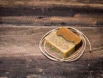 Natural handmade  soap bars Stock Photo
