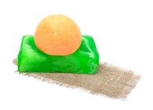 Natural handmade soap, bath bomb, bath solt Royalty Free Stock Image