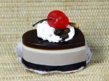 Natural handmade soap chocolate cake with cherry Stock Image