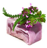 Natural handmade soap with herbs Royalty Free Stock Images