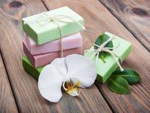 Natural handmade soap Stock Photos
