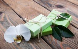 Natural handmade soap Stock Photo
