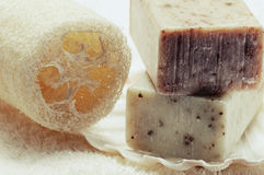 Natural handmade soap Royalty Free Stock Photography