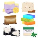 Natural Handmade Soap Realistic Set royalty free illustration