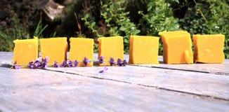 Natural handmade soaps Royalty Free Stock Image