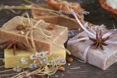Natural handmade soaps Stock Image