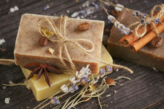 Natural handmade soaps Stock Images