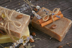 Natural handmade soaps Royalty Free Stock Photo