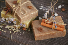 Natural handmade soaps Royalty Free Stock Image