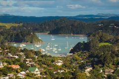 View over Coromandel town. Natural harbour inlet at the town of Coromandel, North Island, New Zealand Stock Images