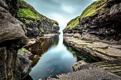 Natural harbours in Gjogv Royalty Free Stock Image