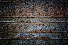 Natural hard rock or stone texture surface as background. Darken from center Stock Photography