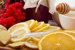 Natural healing products for cold Royalty Free Stock Photo