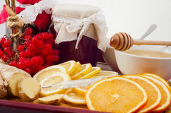 Natural healing products for colds Royalty Free Stock Image