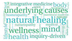 Natural Healing Word Cloud Royalty Free Stock Photography