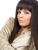 Natural health beauty of a woman face Stock Photos