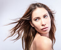 Natural health beauty of a woman face. Photo Royalty Free Stock Photos