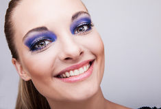 Natural health beauty of a woman face Stock Photography