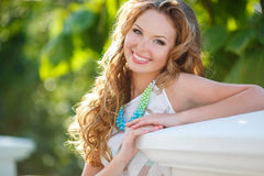 Natural health beauty of a woman face Royalty Free Stock Photos
