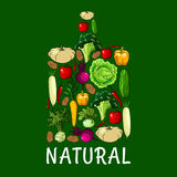 Natural healthy vegetables cutting board icon Stock Photos