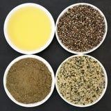 Natural Hemp Ingredients Royalty Free Stock Images
