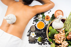 Natural herb spa massage ball therapy Stock Photography