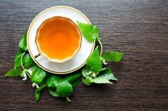 Natural herbal anti-inflammatory - organic dead-nettle tea Stock Photography