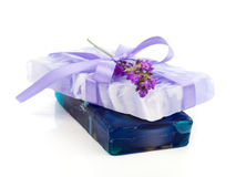 Natural herbal lavender soap Royalty Free Stock Photo