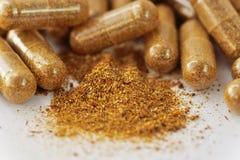 Natural herbal pills Stock Image