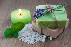 Natural Herbal Soap Royalty Free Stock Photography