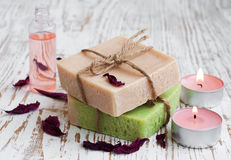 Natural Herbal Soap Stock Photo