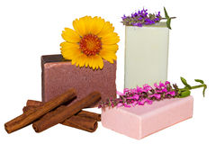 Natural herbal soaps Royalty Free Stock Photos