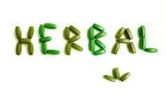 Natural herbal supplment medicine stock photo