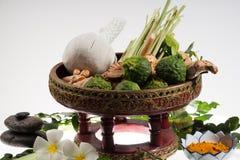 Natural herbs massage ball Royalty Free Stock Photos