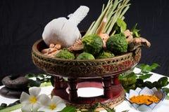 Natural herbs massage ball Stock Photo