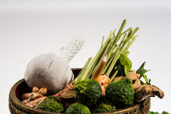 Natural herbs massage ball stock images