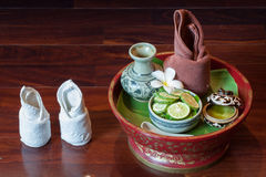 Natural Herbs for Spa Treatment. Kaffir Lime, Natural Herbs for Spa Treatment Stock Photography