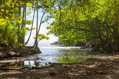 Natural hidden bay near a botanical garden on Big Island, Hawaii Stock Photos
