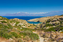 Natural hiking path leading towards the Red Beach Royalty Free Stock Photography