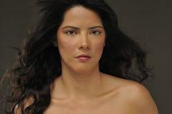 Natural hispanic beauty Stock Photos