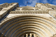 Natural History Museum. Looking-up of Natural History Museum, London stock photography