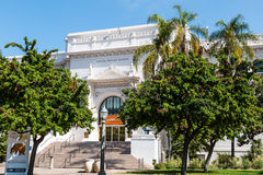 Natural History Museum in Balboa Park. SAN DIEGO, CALIFORNIA - APRIL 28, 2017:  The Natural History Museum in Balboa Park, founded in 1874, and housing exhibits Royalty Free Stock Images